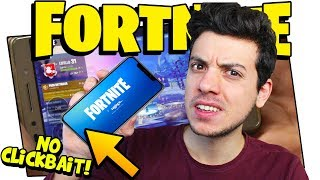 📱 FORTNITE ON SMARTPHONE MOBILE (NO CLICKBAIT VERSION)!! (REAL ITA BATTLE) !! 📱