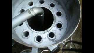 обзор котла на отработанном масле огонь труба 30