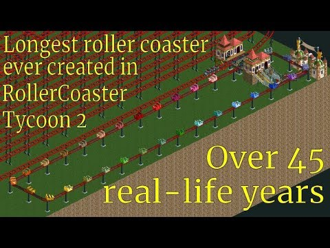 RollerCoaster Tycoon 2 fan builds a coaster that takes 45