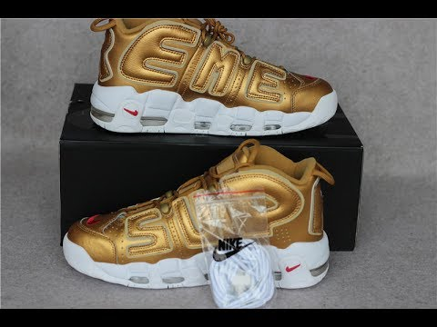 best loved 55fd5 7dbc4 Where to Buy NIKE AIR MORE UPTEMPO GOLD x SUPREME SUPTEMPO !!! Review from  sneakeronfire.us