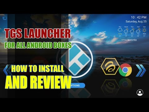 The Best 3D Launcher For Android TVBoxes - TGS Launcher Review And Install
