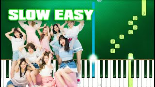 TWICE - MORE & MORE (Slow Easy Piano Tutorial) (Anyone Can Play) видео