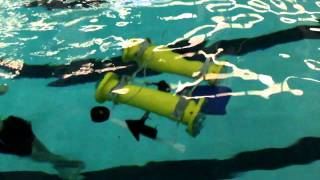 SUNY Maritime College Senior Design Project 2011 - Submersible ROV - Initial Testing