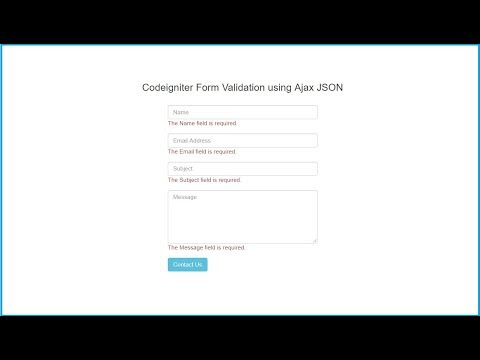Ajax Form Validation in Codeigniter with JSON | Webslesson