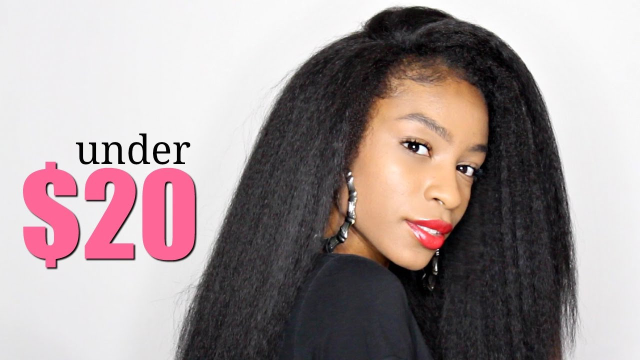 Cheap Natural Hair Extensionsoutre Annie Half Wig Under 20 Youtube