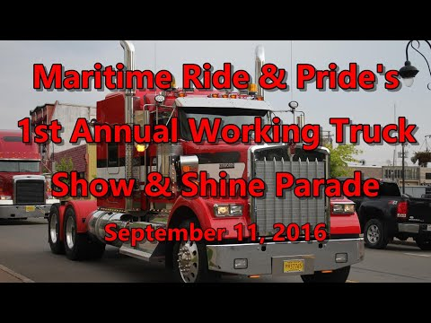 Maritime Ride & Pride's 1st Annual Working Truck Show & Shine Parade (Amherst, NS) 09-11-16