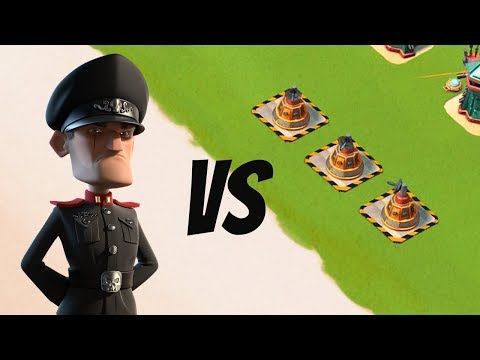 Boom Beach 3 MAX Laser Beams vs Defending Hammerman!!