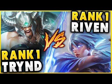 RANK 1 TRYNDAMERE WORLD VS. #1 RIVEN WORLD (FT. ADRIAN RIVEN) - League of Legends