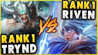 RANK 1 TRYNDAMERE WORLD VS. #1 RIVEN WORLD (FT. ADRIAN RIVEN) - League of Legends
