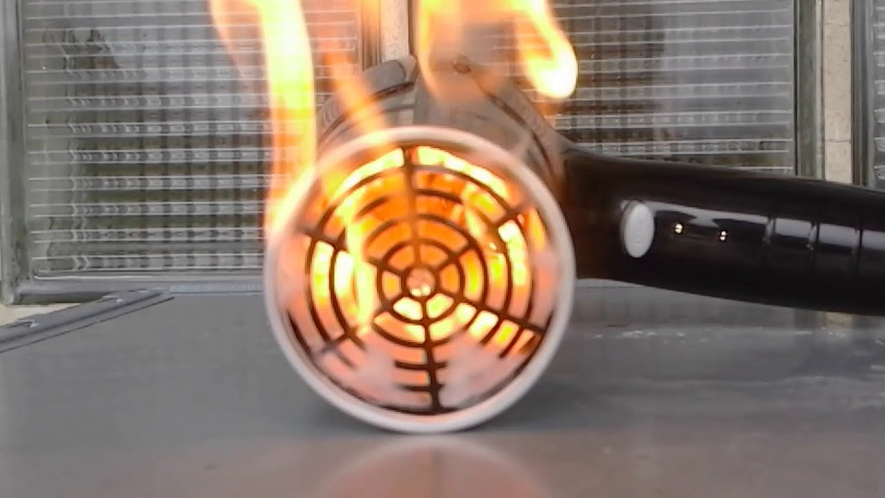Burning Hair Dryer Fire By Electric Device Youtube