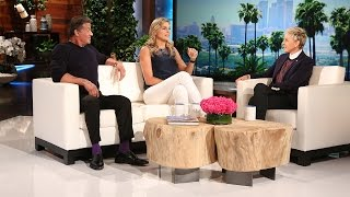 Sylvester Stallone and Gabby Reece Are Strong