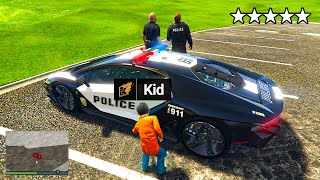 Stealing EVERY LUXURY POLICE CAR As A Kid In GTA 5 RP!