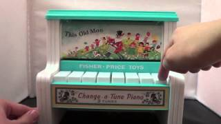 Fisher Price Change A Tune Piano Yesterday's Classics For Kids Today Toy Review 1960s Toys