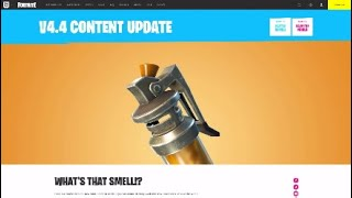 Fortnite STINK BOMB 4.4 Content Update Patch Notes Details