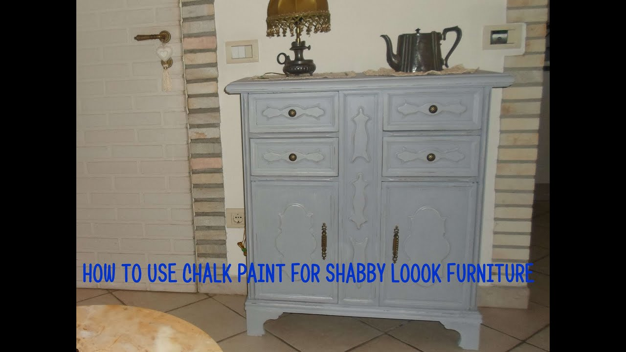 Shabby Look How To Use Chalk Paint For Shabby Look Furniture