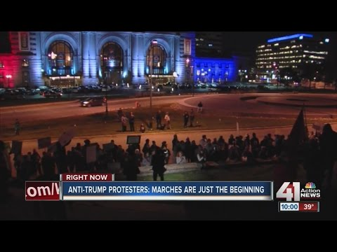 Anti-Trump protesters march through Kansas City
