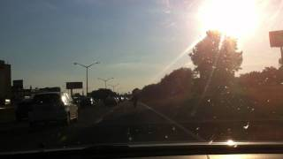 Crazy bike trick on the highway