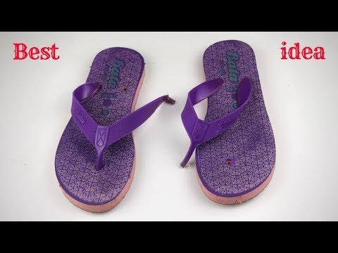 Waste material reuse idea | Best out of waste | DIY arts and crafts | Recycling sandals