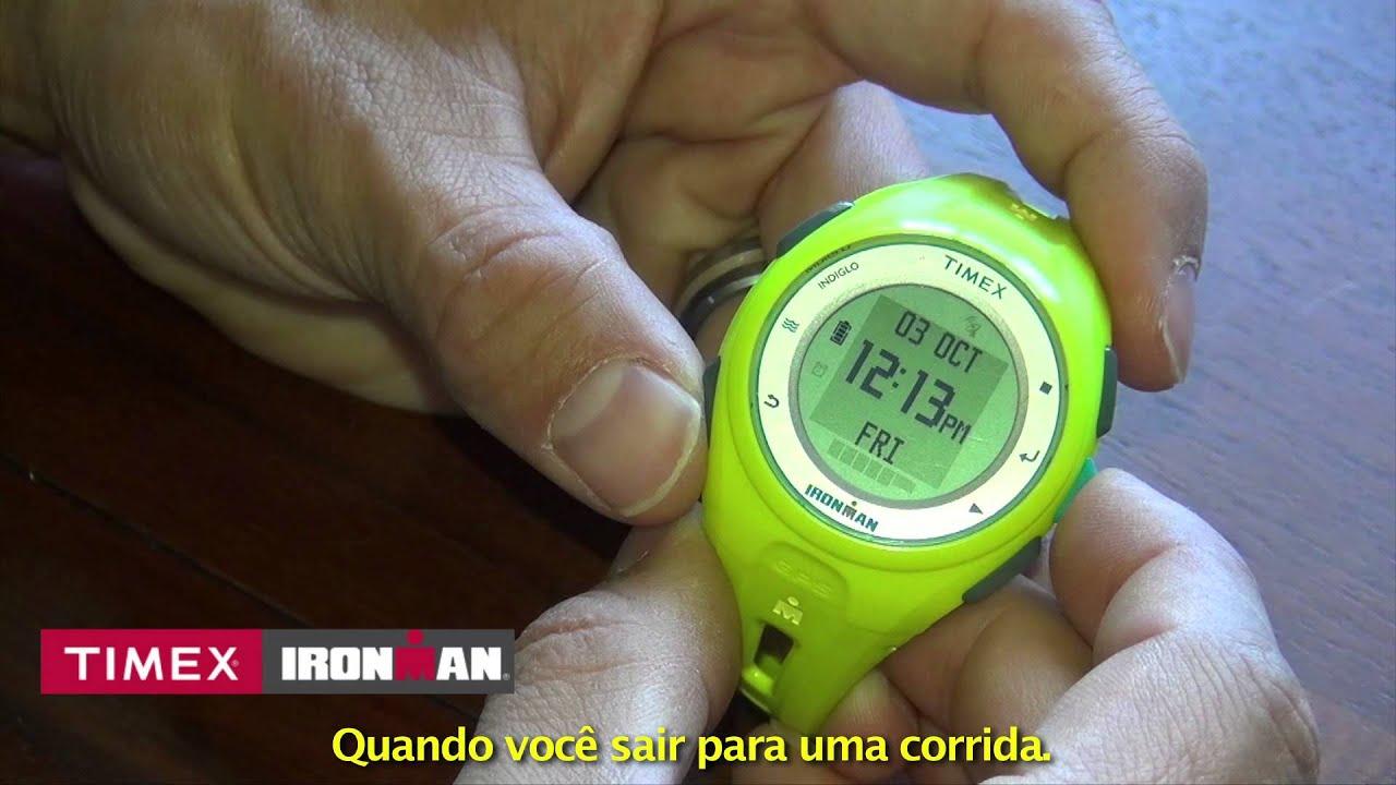 60eaa0e4768 Como usar seu Relógio Timex Ironman Run x20 GPS - YouTube