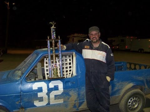 Volkswagen caddy rabbit truck takes first place. Rattlesnake Raceway Dirt track champ mini stock