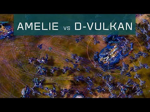 Amelie(Substrate) Vs D-VulKan(PHC) - Ashes Escalation [RTS Multiplayer Gameplay]