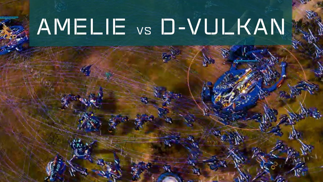 Download Amelie(Substrate) vs D-VulKan(PHC) - Ashes Escalation [RTS Multiplayer Gameplay]