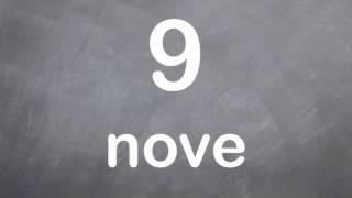 How to Count in Italian - Count to Twelve in Italian