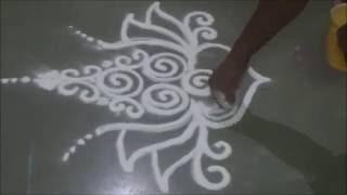 How to draw beautiful rangoli Rangoli designs by Satish Thavi