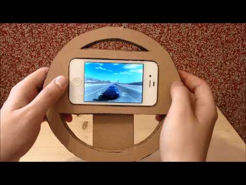 How to make a game steering wheel for any smartphone or tablet