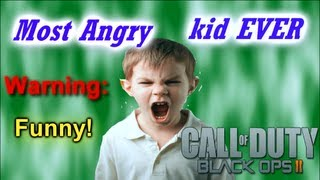 Black ops 2: Funniest Mad Raging Kid EVER!