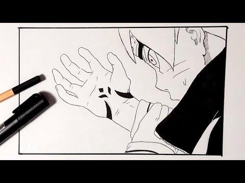Speed Drawing Boruto's New Seal Curse Mark Tattoo (Boruto Naruto Next Generations Manga Chapter 15)