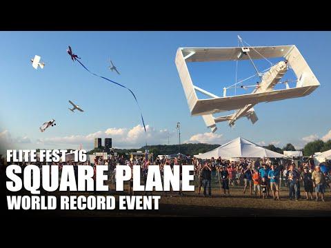 World Record Event!! Giant Square Plane | Flite Fest 2016 - Part 2