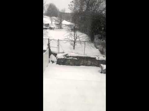 Snow in Salt lake city utah. 12/20/15