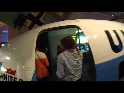 Walk on Commercial Airplane in Museum of Science & Industry, Chicago