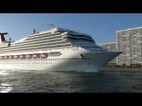 Carnival Conquest Departs Port Everglades