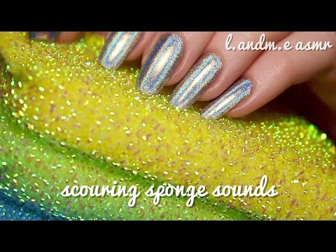 ASMR 💆 || scratching scouring sponge sounds in your ears || 45MINS || no talking 🤐 ||