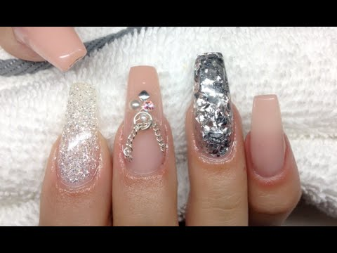 How To Nude Nails  Coffin Ballerina Nail Shape  YouTube