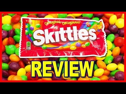 Skittles Bite Size Candies Review - Original - Strawberry Lemon, Orange, Green Apple and Grape