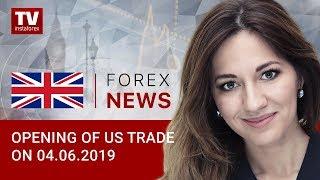 InstaForex tv news: 04.06.2019:  Oil trading lower, but RUB halts decline (BRENT, RUB, USD)
