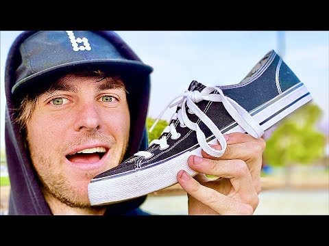 1000 KICKFLIPS IN THE CHEAPEST WALMART SHOES!