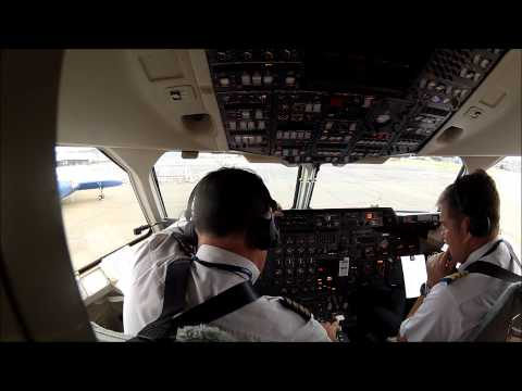 BAe 146-200 Startup and Takeoff (No Music)