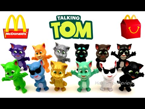 2016 Mcdonald S Talking Tom Cat Happy Meal Toys Set 12 Brazil