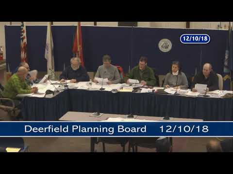 Deerfield Planning Board - December 10, 2018