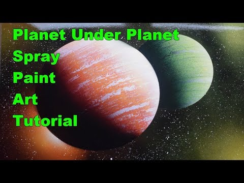 BEGINNERS SPRAY PAINT ART TUTORIAL - HOW to MAKE PLANET UNDER PLANET thumbnail