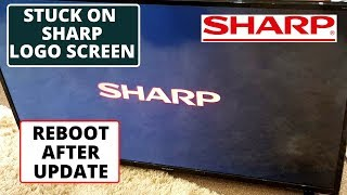 How To Fix Sharp TV Stuck on Sharp Logo Screen || Sharp TV Wont Turn On After firmware Update