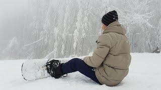 Vlog2019 1 Покатушки на сноуборде Горнолыжный курорт СОК Красная глинка