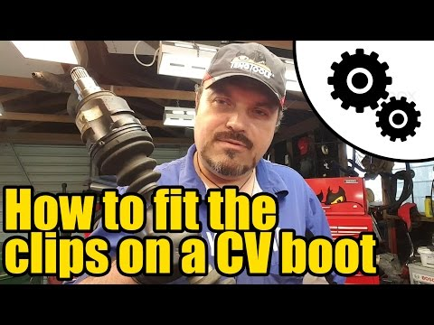 How to fit the clips on a CV boot #1009