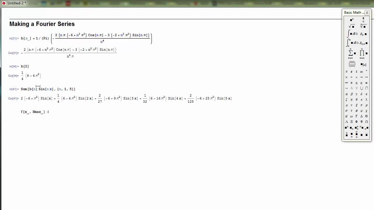 Fourier Series In Mathematica