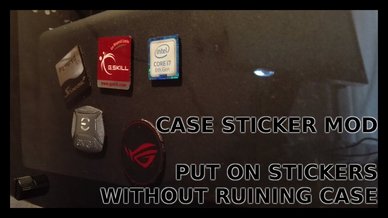 pc component stickers on