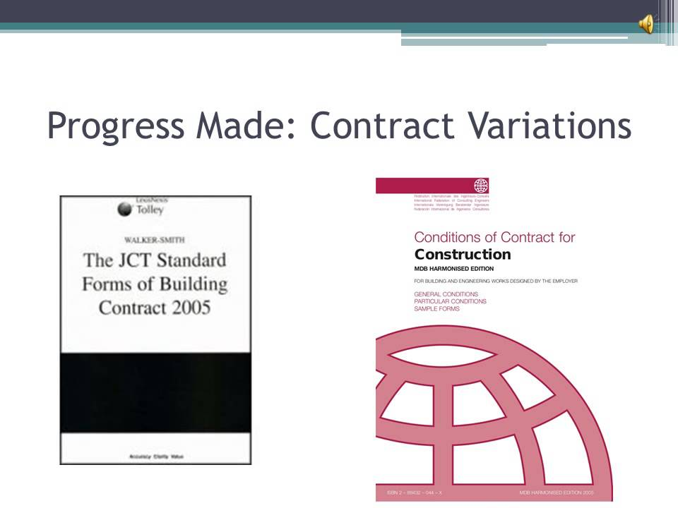 Contract Variations In The Construction Industry Youtube